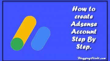 adsense account kaise banaye create adsense account