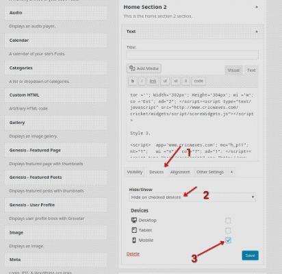 WordPress Blog Ke Kisi Widget Ko Mobile Hide Kaise Karte Hai 2