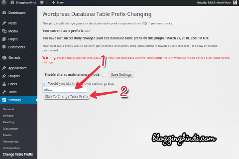 WordPress Database Prefix Change Kaise Kare - Security Ke Liye 2