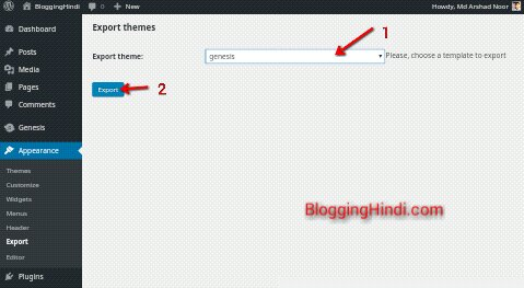 export wordpress theme download in phone computer