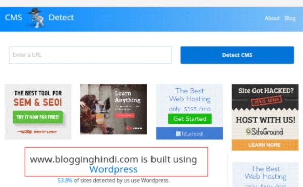 Website Ya Blog Ke CMS (Platform) Ko Detect Karne Ki 5 Tools 5