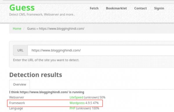 Website Ya Blog Ke CMS (Platform) Ko Detect Karne Ki 5 Tools 3