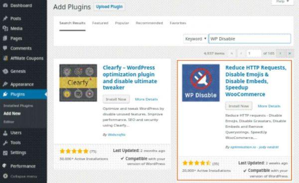 WP Disable Plugin Ka Use Karke WordPress Site Loading Speed Fast Kaise Banaye 4