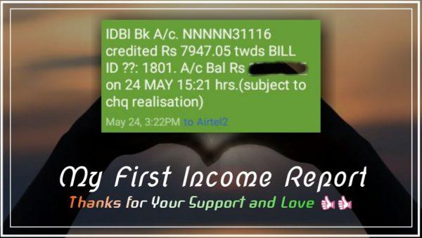 blogging hindi ki pahli income earning report