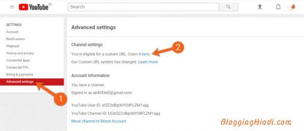 YouTube Channel Me Custom URL Kaise SetUp Kare [With Screenshots] 2