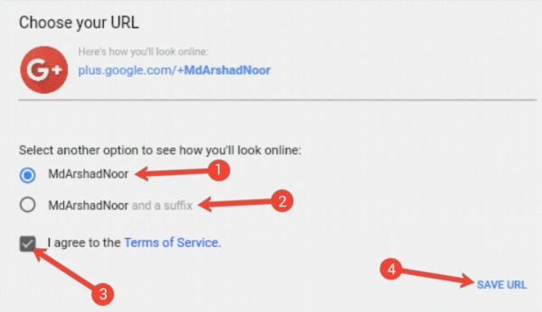 Google Plus Profile Me Custom URL Setup Kaise Kare 2