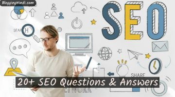 20 plus seo related questions and answers