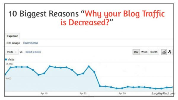 blog ki traffic decrease hone ki wajah karan reasons why blog traffic decreased