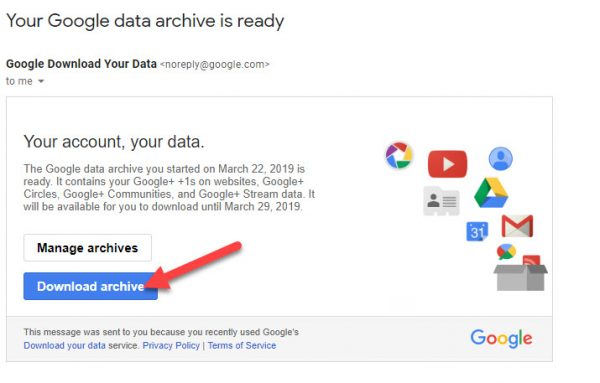 Google Plus Band Hone Se Pahle Sare Data Ko Download Kaise Kare 3