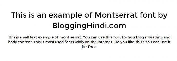 montserrat font for blog