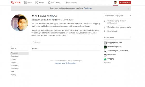 md arshad noor profile