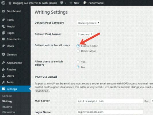 WordPress Me Gutenberg Editor Ko Disable Kaise Kare 2