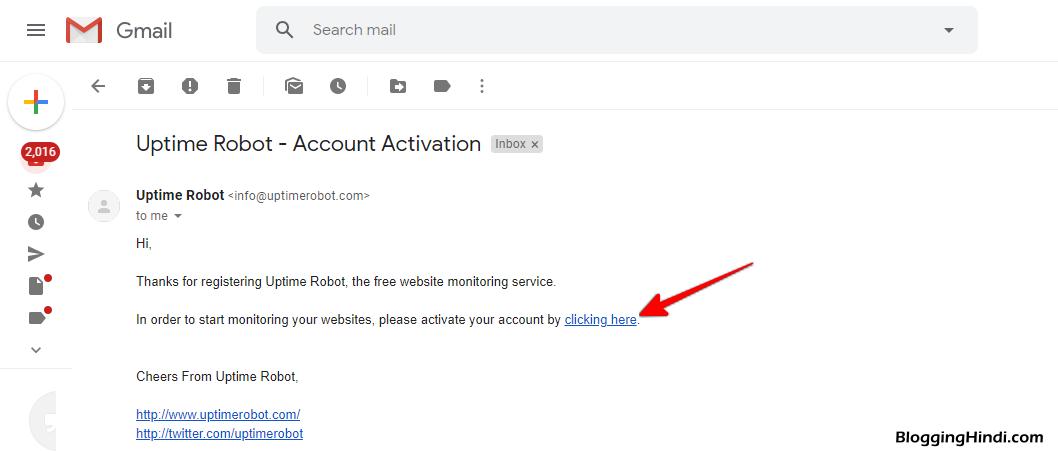 Website Down Hone Ki Notification Email Me Kaise Paye [Uptime Robot] 3