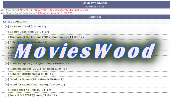 MoviesWood 2019: Download Latest Telugu, Tamil, Malayalam Movies