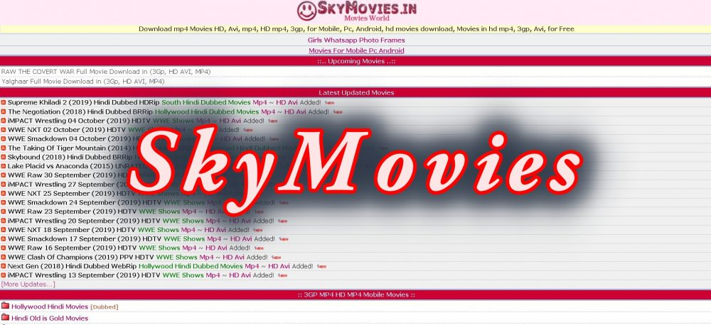 www.skymovieshd.in: Latest Link and Full Information about skymovieshd.in
