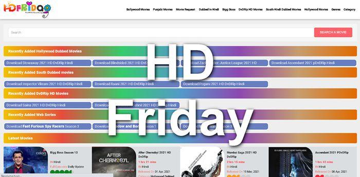 HdFriday – Bollywood Latest Movies Download HD 300MB, Webseries, & Punjabi 1