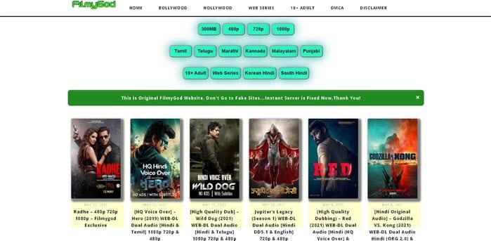 Filmygod 2021: Download Bollywood Hindi HD Movies, 300MB Movies, (Radhe Download), Tamil, Telugu