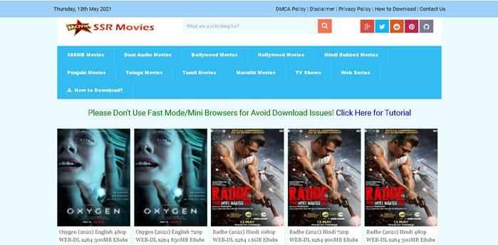 SSR Movies 2021: 300MB Bollywood Movies Download (Radhe Full Movie)
