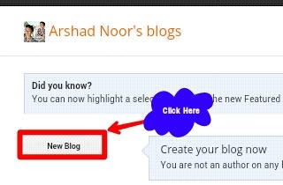 Blogger par free blogkaise banaye
