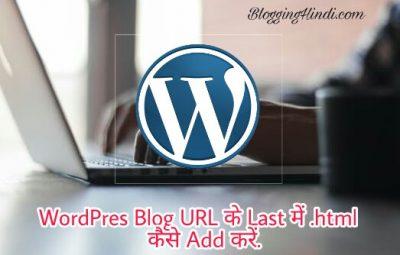 WordPress Blog Post URL Ke Last Me .html Kaise Add Kare Aur Q Kare