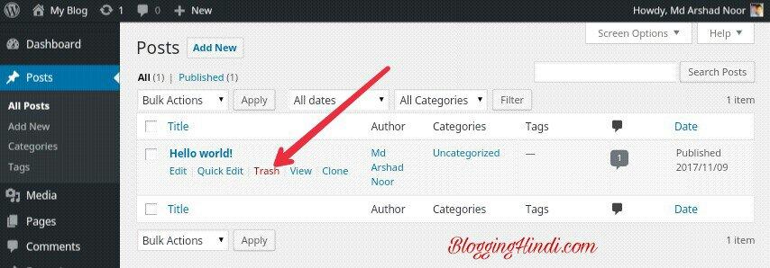 WordPress Install karne Ke Baad 10 Jaruri Sittings Kare 5