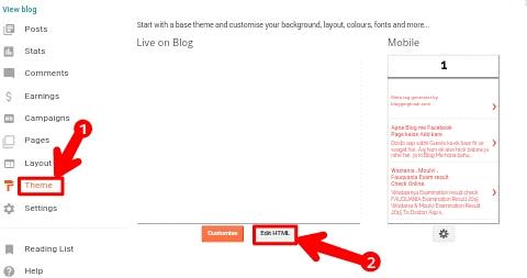 Blogger Blog Ki Menu Bar Ko Edit Kaise Kare 2