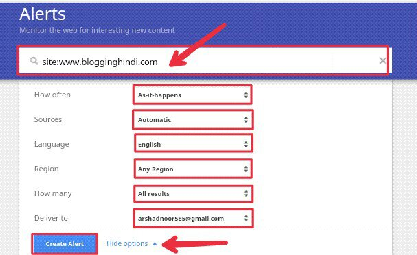 How to get notification when your blog post is indexed on google