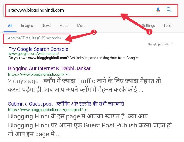 Google Me Apke Website Ki Kitne URLs Index Ho Rahi Hai. Jaane 1