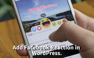 Facebook Reaction Buttons Ko WordPress Me Add Kaise Kare