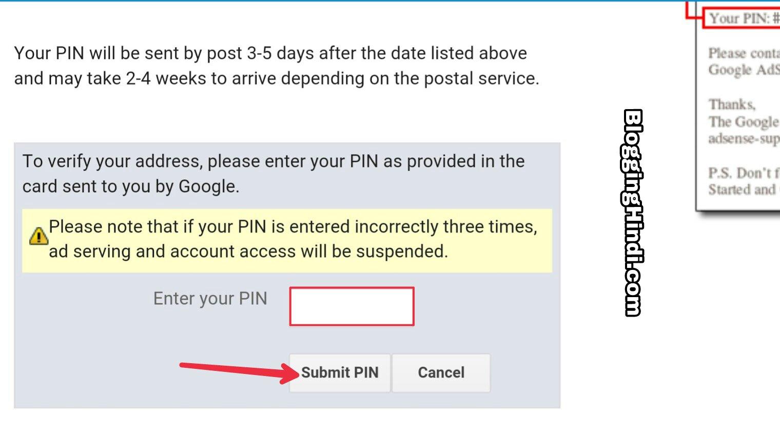 Adsense Addresss Pin verify kaise kare Full guide
