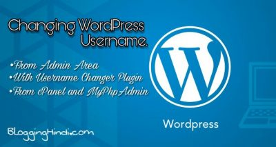 WordPress Me Login Username Kaise Change Kare [3 Methods]
