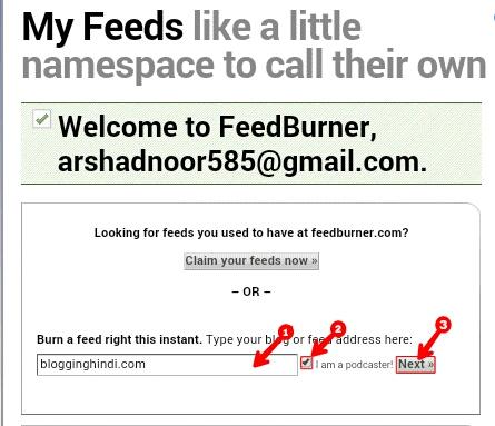 FeedBurner Kya hai? Feedburner Par Account Kaise Banaye 1