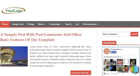 Blogger Ke Liye Top 10 Templates Sabhi Extra Futures Ke Sath 6