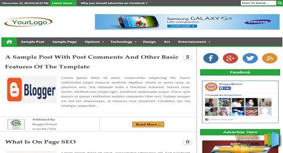 Blogger Ke Liye Top 10 Templates Sabhi Extra Futures Ke Sath 7