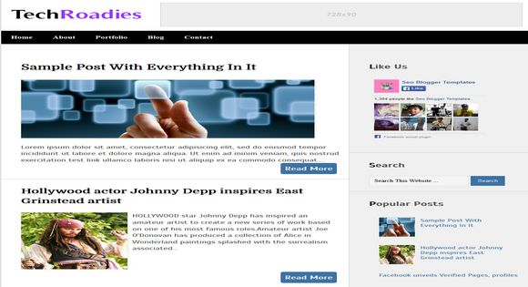 Blogger Ke Liye Top 10 Templates Sabhi Extra Futures Ke Sath 10