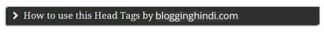 Blog Post Ki Heading Ko Stylish Design Kaise Kare. Without Plugin 4